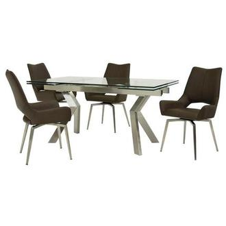Lynne Clear/Kalia Brown 5-Piece Dining Set