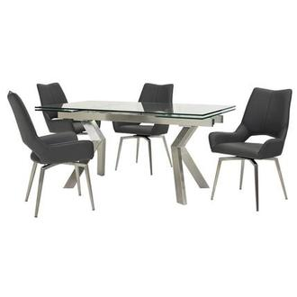 Lynne Clear/Kalia Gray 5-Piece Dining Set