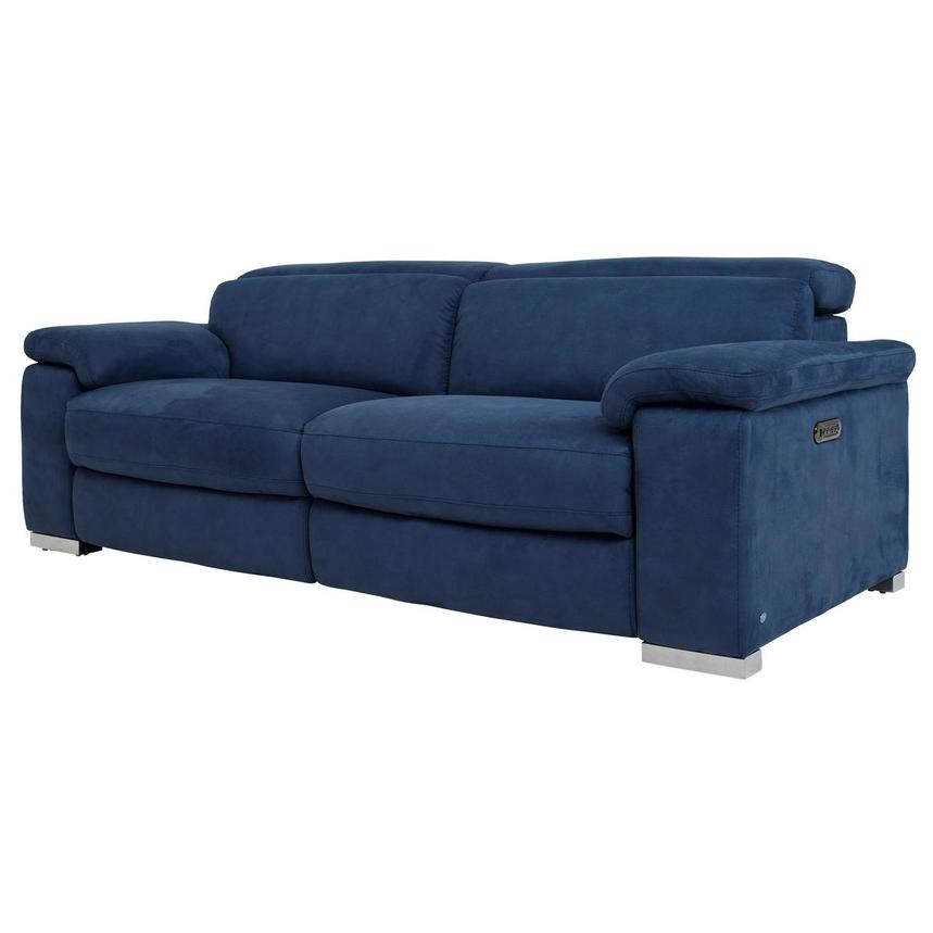 This Navy Blue 6 Piece Leather Match Power Reclining Sectional Sofa From Rc Willey Just Begs You To Sink Down In With Four Extra Wide Recliners