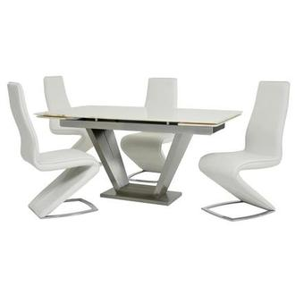 Jessy II White 5-Piece Formal Dining Set