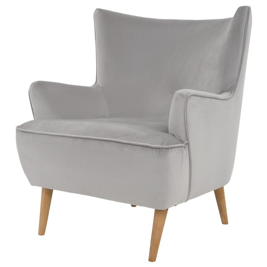 Zita Gray Accent Chair  alternate image, 2 of 6 images.