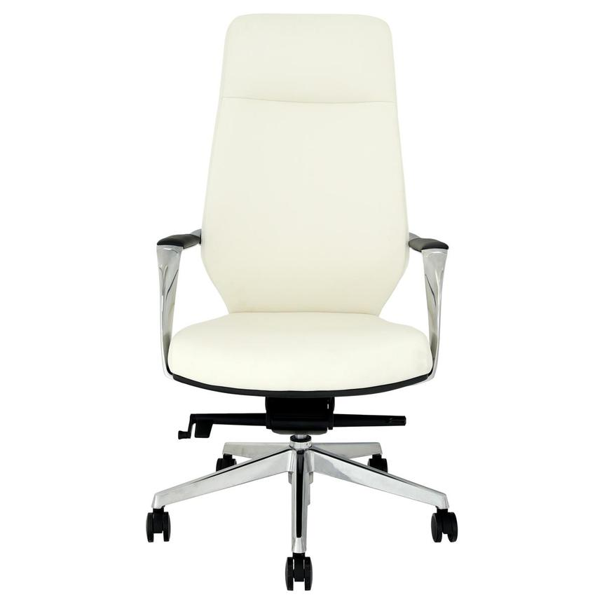 Yoshi White High Back Desk Chair  alternate image, 2 of 8 images.