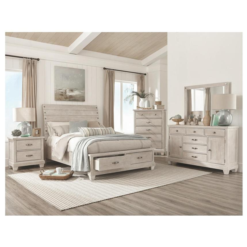 Hamilton Off White 4 Piece King Bedroom Set El Dorado Furniture