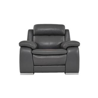 Matteo Gray Power Motion Leather Recliner
