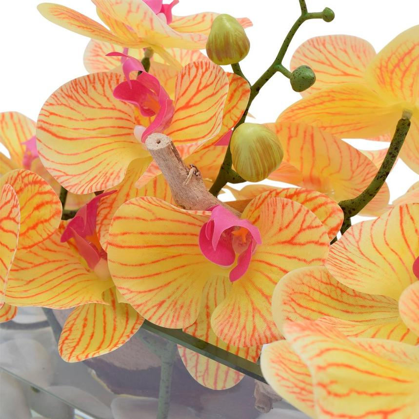 Dulce Orchids Yellow Flower Arrangement  alternate image, 2 of 3 images.