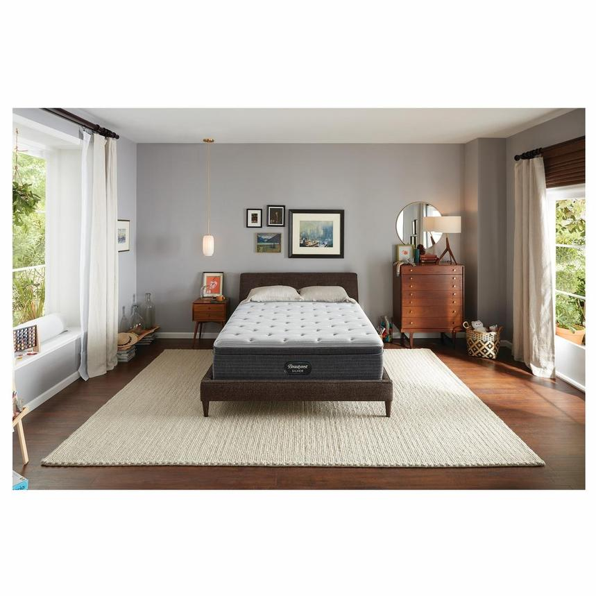 BRS900-ET-MS King Mattress w/Regular Foundation by Simmons Beautyrest Silver  alternate image, 2 of 6 images.