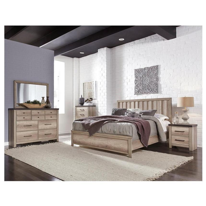 barn wood 4piece queen bedroom set  el dorado furniture