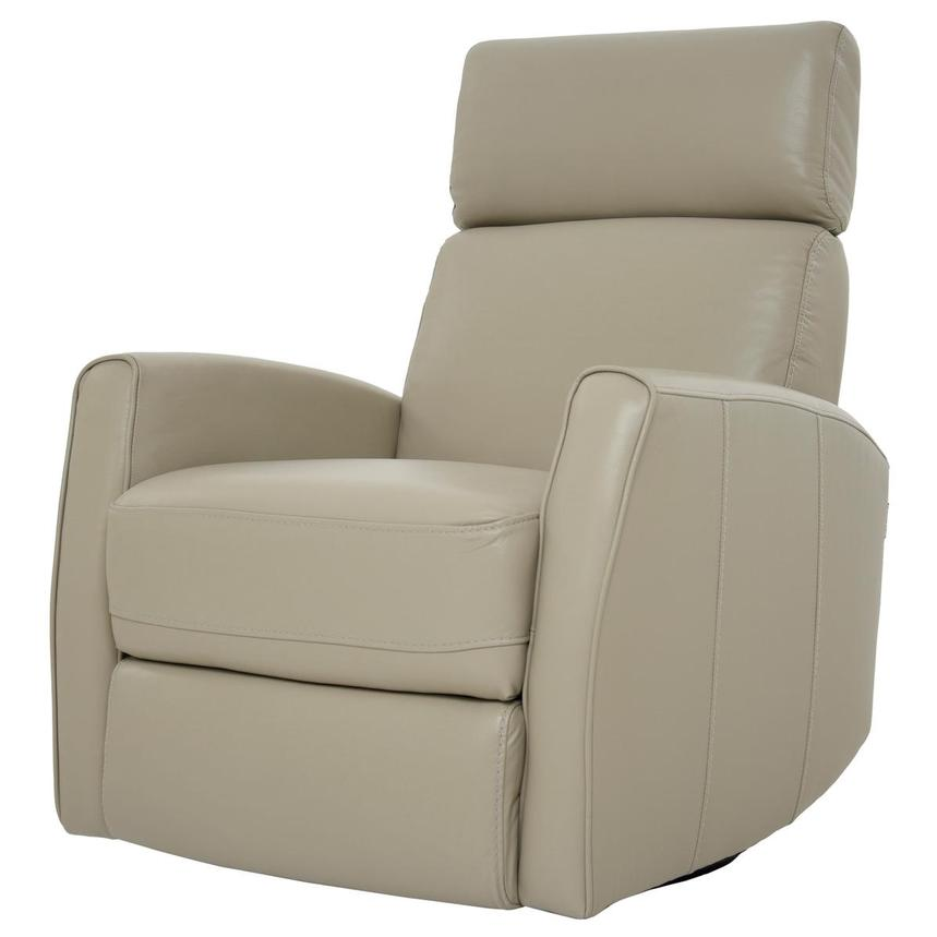 Lucca Cream Power Motion Leather Recliner  alternate image, 2 of 7 images.
