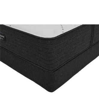 BRX 1000-Firm Queen Mattress w/Low Foundation by Simmons Beautyrest Hybrid