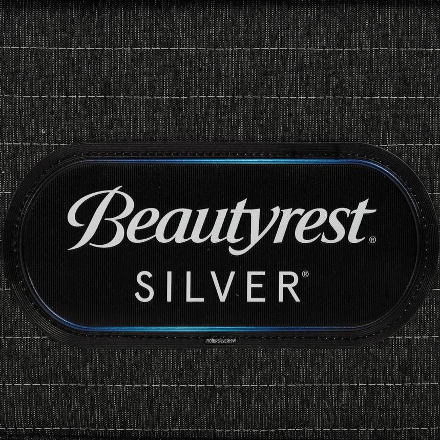BRS900-TT-Plush Queen Mattress w/Regular Foundation by Simmons Beautyrest Silver  alternate image, 5 of 6 images.