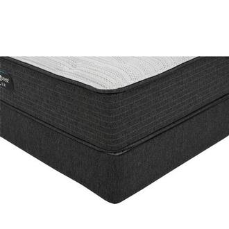 BRS900-TT-Plush Twin Mattress w/Regular Foundation by Simmons Beautyrest Silver