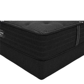 BRB-C-Class MS Twin XL Mattress w/Regular Foundation by Simmons Beautyrest Black