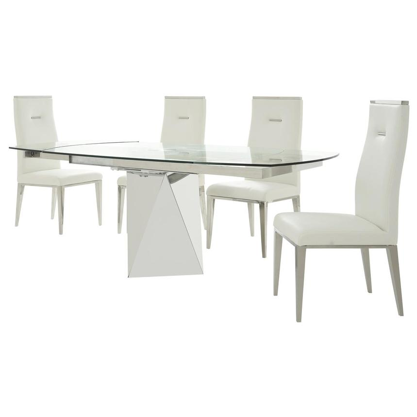 Ulona/Hyde I White 5-Piece Formal Dining Set  alternate image, 2 of 15 images.