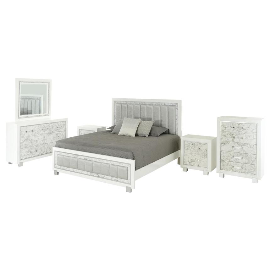 Alessandra 6-Piece King Bedroom Set | El Dorado Furniture