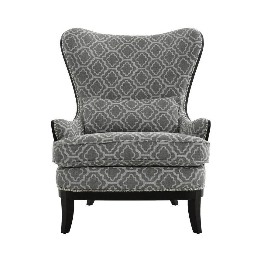 Terrific Elle Dark Gray Accent Chair Machost Co Dining Chair Design Ideas Machostcouk