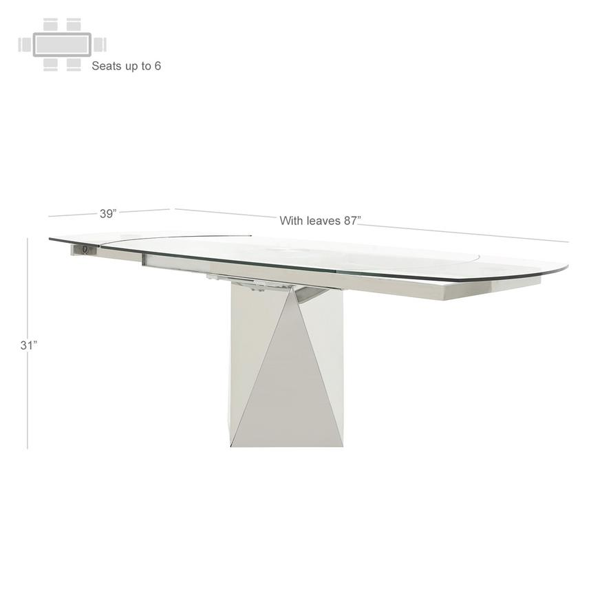 Ulona Extendable Dining Table  alternate image, 3 of 6 images.