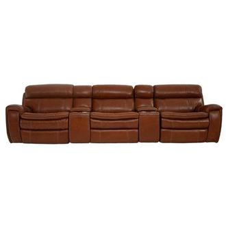 Napa Tan Home Theater Leather Seating
