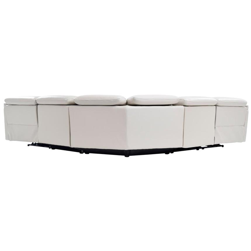 Austin White Leather Power Reclining Sectional  alternate image, 4 of 8 images.