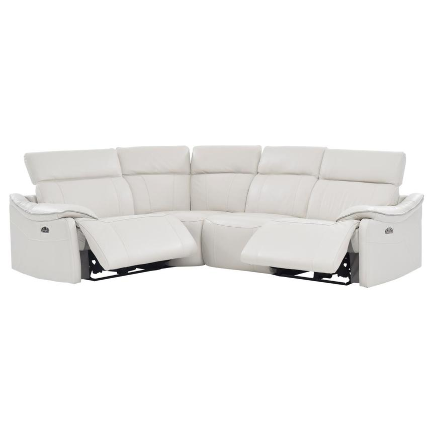 Austin White Leather Power Reclining Sectional  alternate image, 2 of 7 images.