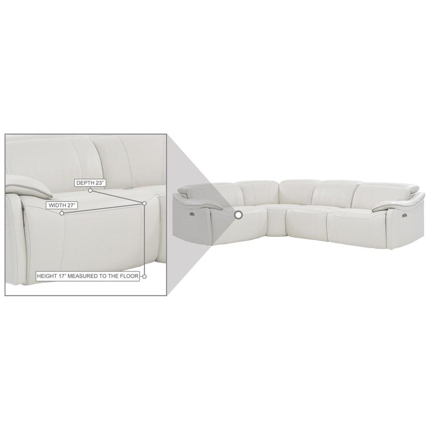 Austin White Leather Power Reclining Sectional  alternate image, 7 of 7 images.
