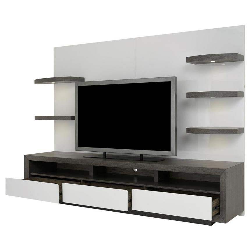 Contour II Gray/White Wall Unit  alternate image, 3 of 9 images.
