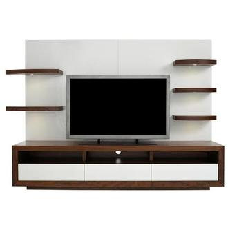 Contour Walnut/White Wall Unit