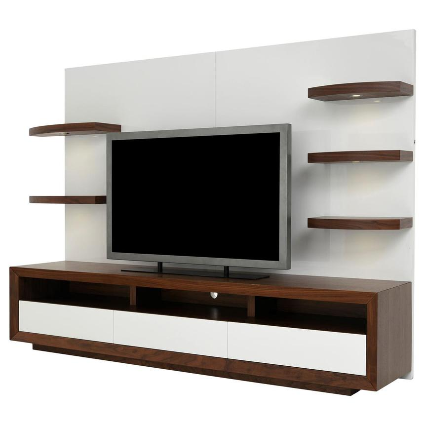 Contour Walnut/White Wall Unit  alternate image, 2 of 10 images.