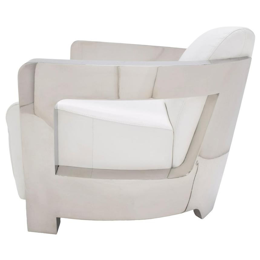 Aviator II White Leather Accent Chair  alternate image, 4 of 7 images.