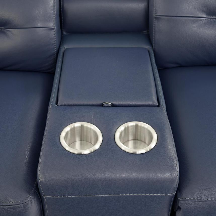 Anabel Blue Home Theater Leather Seating  alternate image, 8 of 9 images.