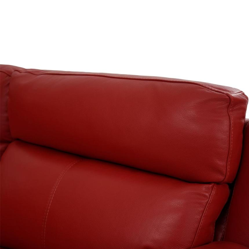 Barry Red Home Theater Leather Seating  alternate image, 7 of 11 images.