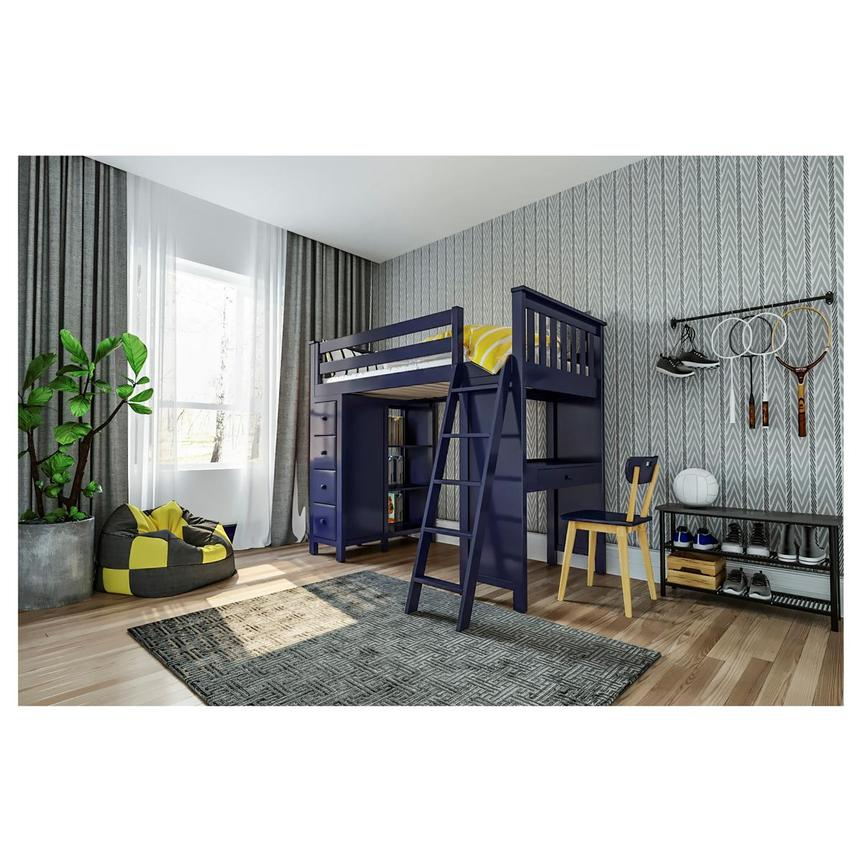 Haus Blue Twin Loft Bed w/Desk & Chest  alternate image, 2 of 14 images.
