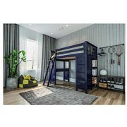 Haus Blue Twin Loft Bed w/Desk & Chest  alternate image, 3 of 14 images.