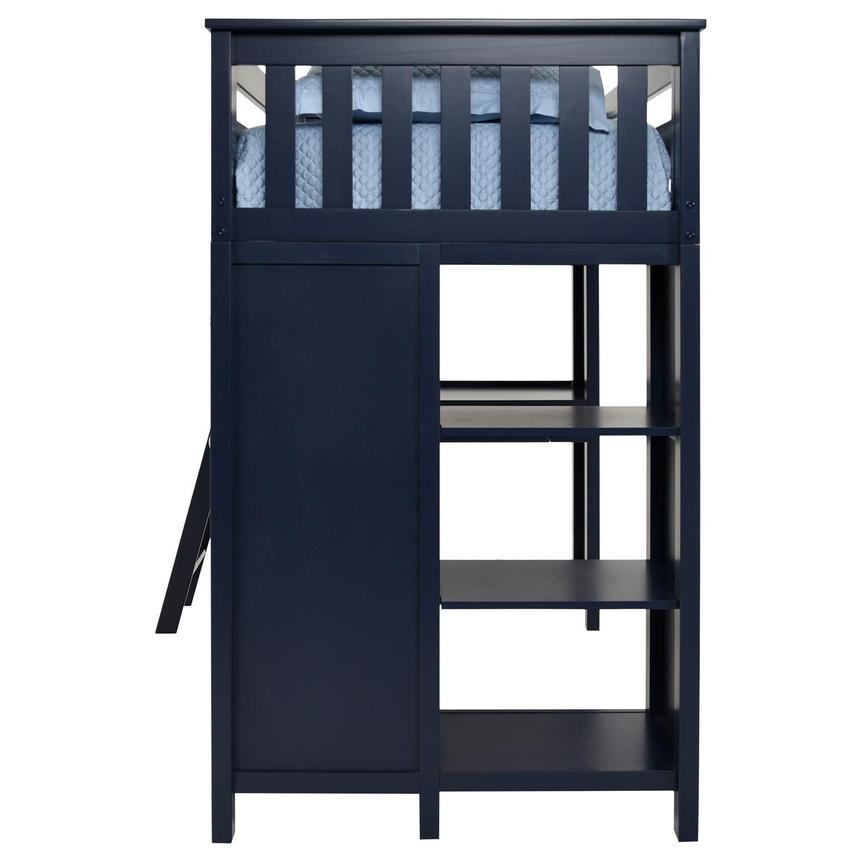 Haus Blue Twin Loft Bed w/Desk & Chest  alternate image, 7 of 14 images.
