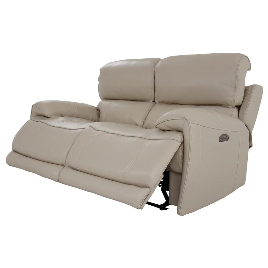Cody Cream Leather Power Reclining Loveseat  alternate image, 3 of 11 images.
