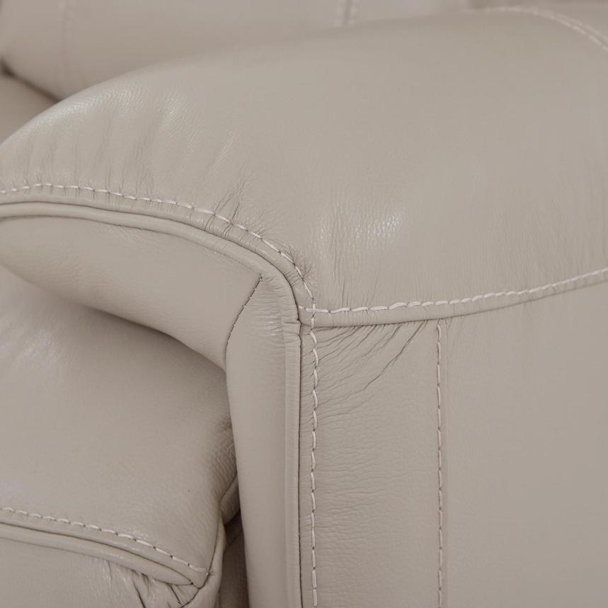Cody Cream Leather Power Reclining Loveseat  alternate image, 8 of 11 images.