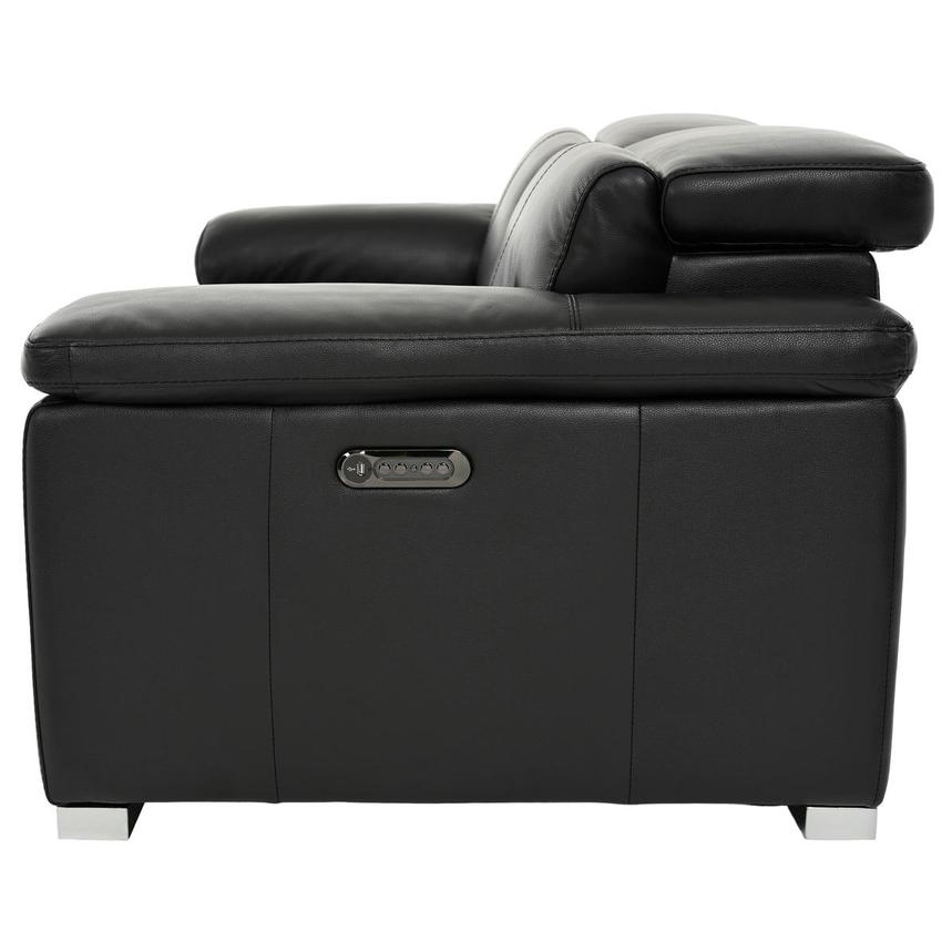 Charlie Black Leather Power Reclining Loveseat  alternate image, 4 of 12 images.
