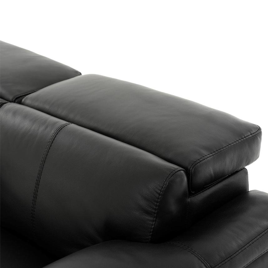 Charlie Black Leather Power Reclining Loveseat  alternate image, 7 of 11 images.