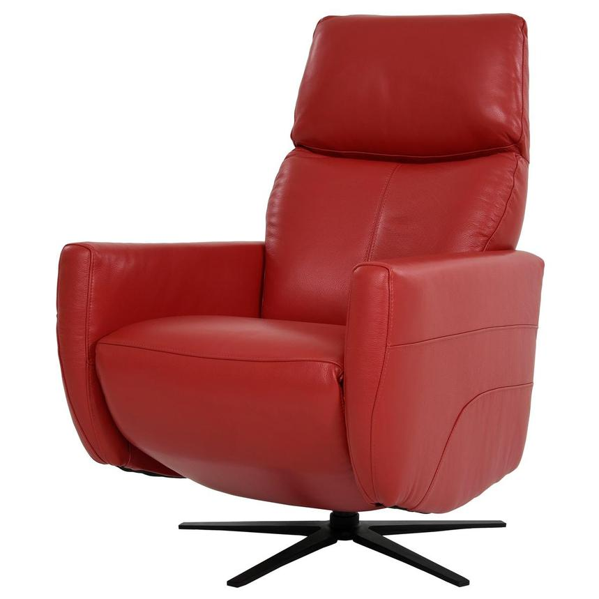 Kirk Red Power Motion Leather Recliner  alternate image, 3 of 10 images.