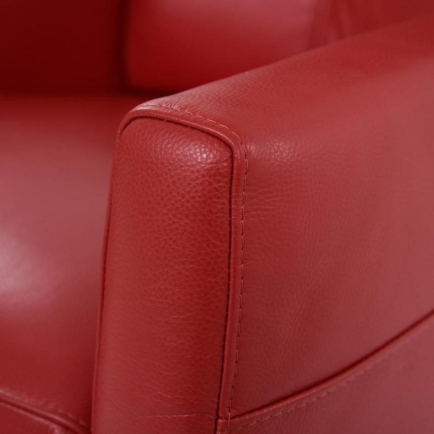 Kirk Red Power Motion Leather Recliner  alternate image, 8 of 10 images.