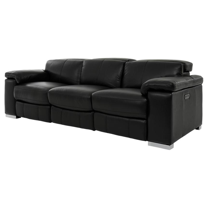 Charlie Black Leather Power Reclining Sofa  alternate image, 2 of 11 images.