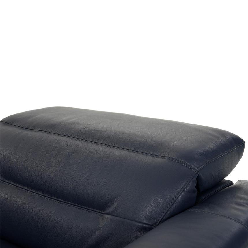 Anabel Blue Leather Power Reclining Sectional  alternate image, 6 of 9 images.