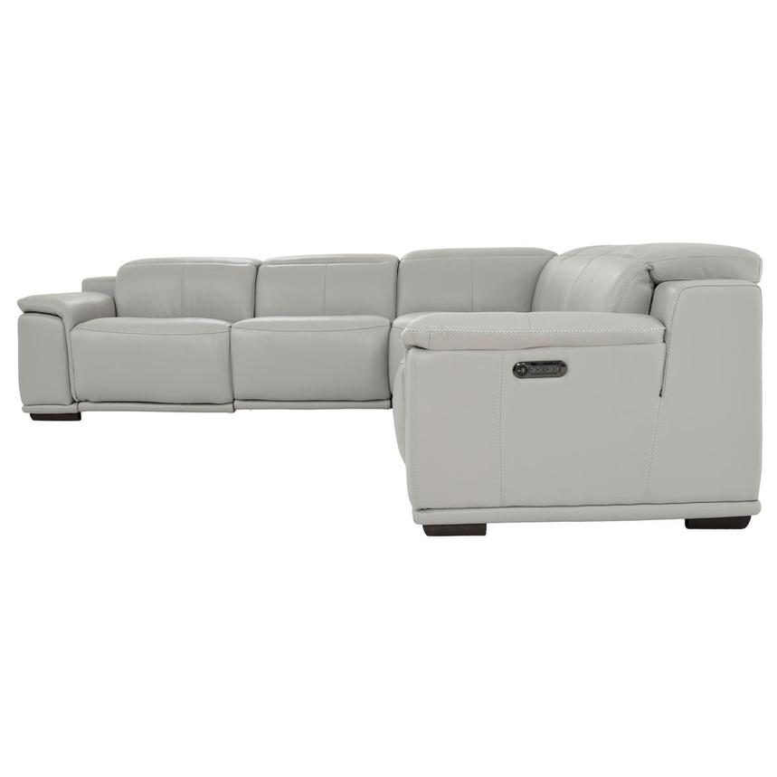 Davis 2.0 Light Gray Leather Power Reclining Sectional  alternate image, 3 of 10 images.