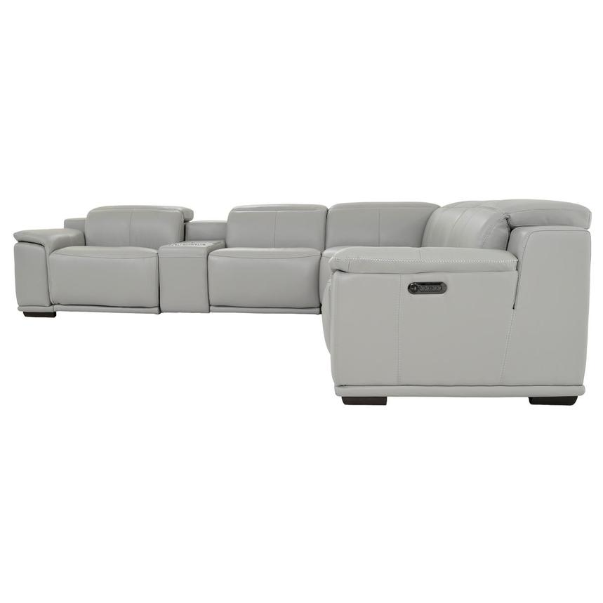 Davis 2.0 Light Gray Power Motion Leather Sofa w/Right & Left Recliners  alternate image, 3 of 10 images.