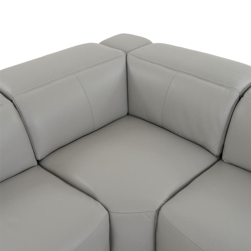 Davis 2.0 Light Gray Leather Power Reclining Sectional  alternate image, 7 of 11 images.