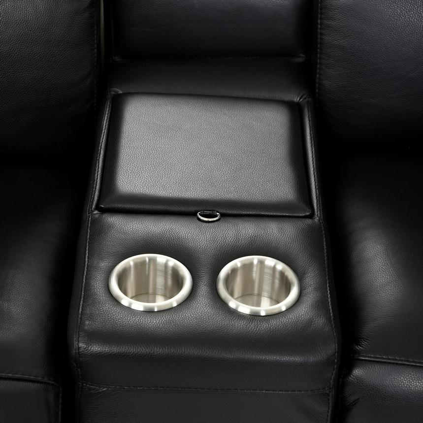 Jeremy Power Motion Leather Sofa w/Right & Left Recliners  alternate image, 8 of 10 images.