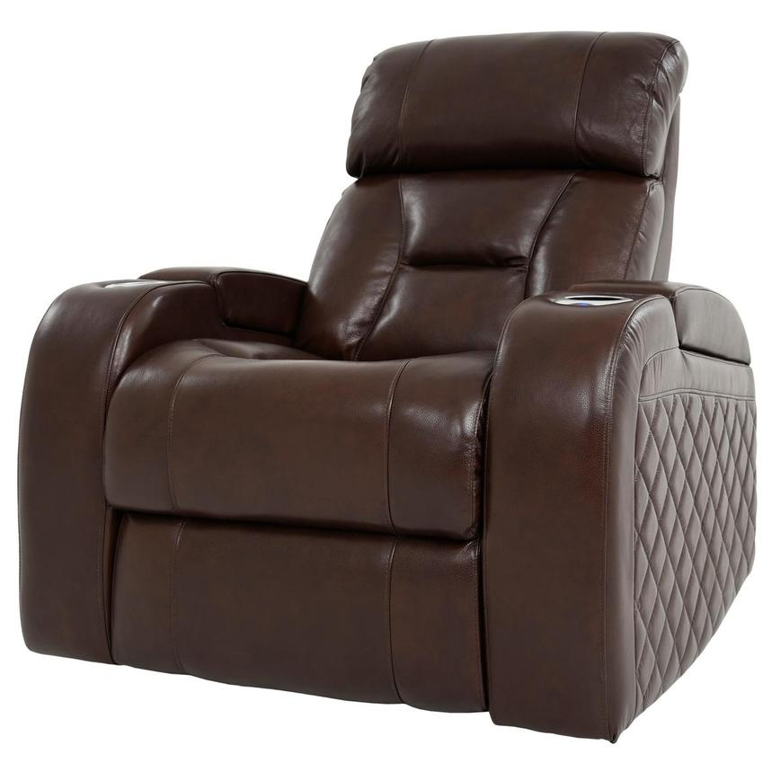 Gio Brown Leather Power Recliner  alternate image, 2 of 13 images.
