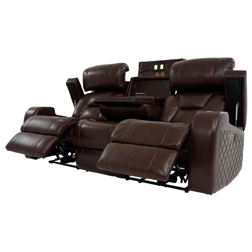 Gio Brown Leather Power Reclining Sofa  alternate image, 3 of 18 images.