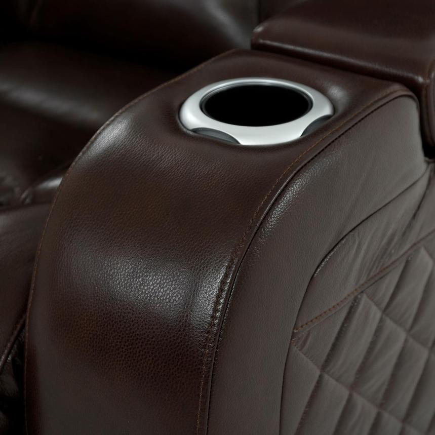 Gio Brown Leather Power Reclining Sofa  alternate image, 8 of 18 images.