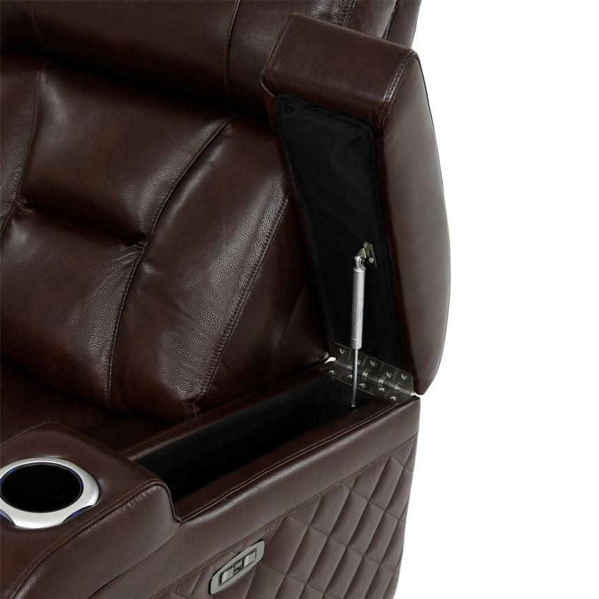 Gio Brown Leather Power Reclining Sofa  alternate image, 13 of 18 images.
