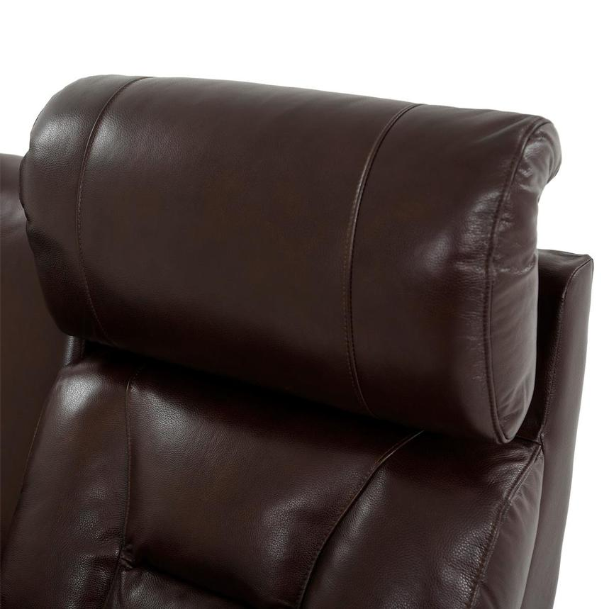 Gio Brown Leather Power Reclining Sofa w/Console  alternate image, 7 of 14 images.